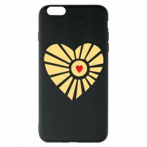 Etui na iPhone 6 Plus/6S Plus Słońce z sercem