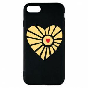 Etui na iPhone 7 Słońce z sercem