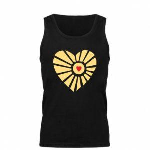 Męska koszulka Słońce z sercem
