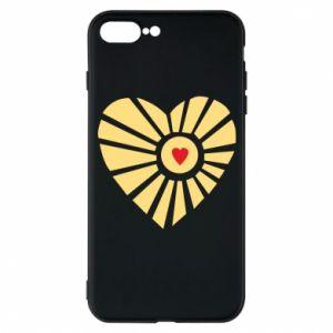 Etui na iPhone 7 Plus Słońce z sercem