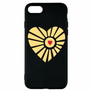 Etui na iPhone 8 Słońce z sercem