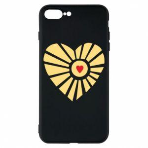 Etui na iPhone 8 Plus Słońce z sercem