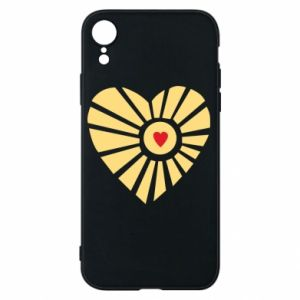 Etui na iPhone XR Słońce z sercem