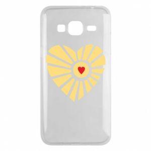 Etui na Samsung J3 2016 Słońce z sercem