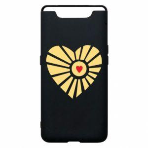 Etui na Samsung A80 Słońce z sercem