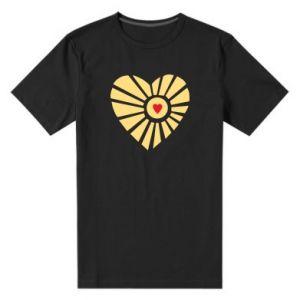 Męska premium koszulka Słońce z sercem