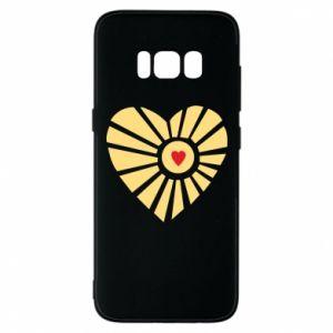 Etui na Samsung S8 Słońce z sercem