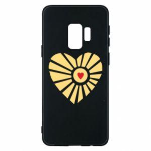 Etui na Samsung S9 Słońce z sercem