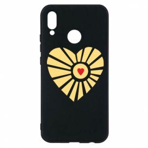 Etui na Huawei P20 Lite Słońce z sercem