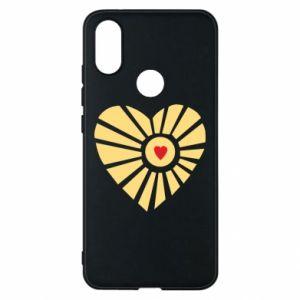 Etui na Xiaomi Mi A2 Słońce z sercem