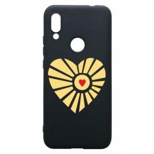 Etui na Xiaomi Redmi 7 Słońce z sercem