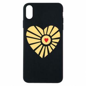 Etui na iPhone Xs Max Słońce z sercem