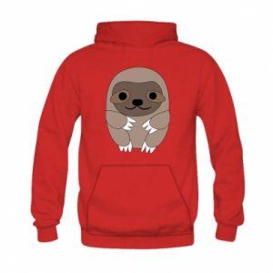 Bluza z kapturem dziecięca Sloth baby