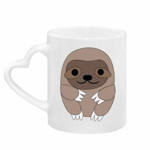 Kubek z uchwytem w kształcie serca Sloth baby