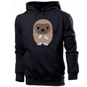 Męska bluza z kapturem Sloth baby - PrintSalon