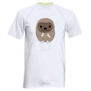 Męska koszulka sportowa Sloth baby - PrintSalon