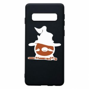Phone case for Samsung S10 Sloth in a hat