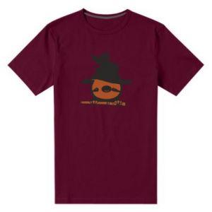 Męska premium koszulka Sloth in a hat