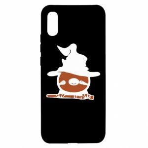 Xiaomi Redmi 9a Case Sloth in a hat