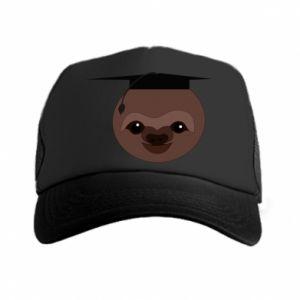 Czapka trucker Sloth student - PrintSalon