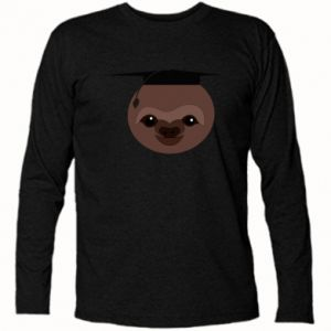 Koszulka z długim rękawem Sloth student - PrintSalon