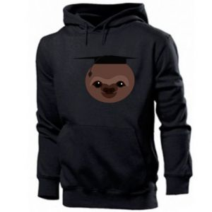 Men's hoodie Sloth student