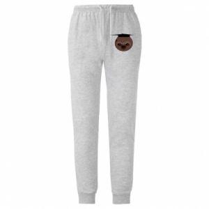 Męskie spodnie lekkie Sloth student - PrintSalon