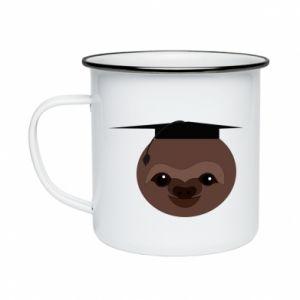 Kubek emaliowane Sloth student - PrintSalon