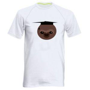Męska koszulka sportowa Sloth student - PrintSalon