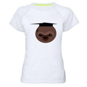 Damska koszulka sportowa Sloth student - PrintSalon
