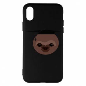 Phone case for iPhone X/Xs Sloth student
