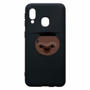 Phone case for Samsung A40 Sloth student