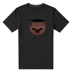 Męska premium koszulka Sloth student - PrintSalon