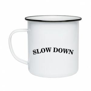 Kubek emaliowany Slow down