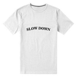 Men's premium t-shirt Slow down