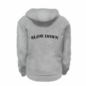Bluza na zamek dziecięca Slow down