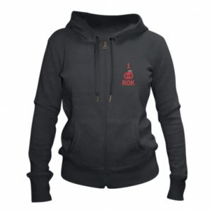 Women's zip up hoodies Wedding 1 year - PrintSalon