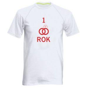 Koszulka sportowa męska Ślub 1 rok
