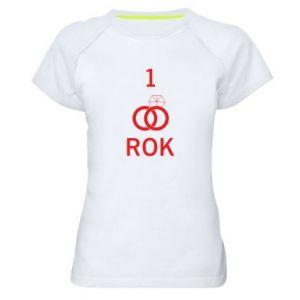 Koszulka sportowa damska Ślub 1 rok