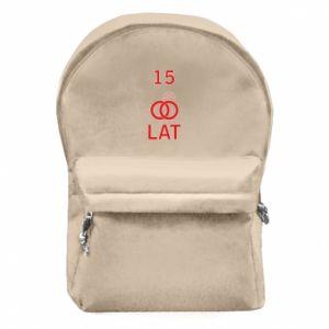 Plecak z przednią kieszenią Ślub 15 lat