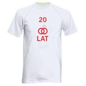 Koszulka sportowa męska Ślub 20 lat