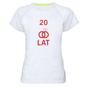 Koszulka sportowa damska Ślub 20 lat