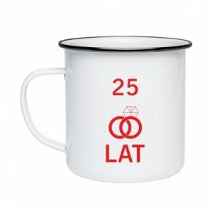 Enameled mug Wedding 25 years - PrintSalon