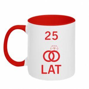 Two-toned mug Wedding 25 years - PrintSalon