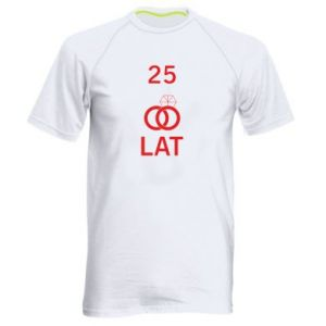 Men's sports t-shirt Wedding 25 years - PrintSalon