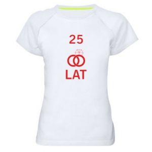 Women's sports t-shirt Wedding 25 years - PrintSalon