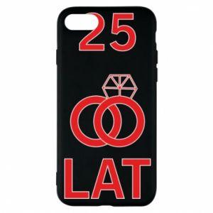 Phone case for iPhone 8 Wedding 25 years - PrintSalon