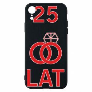 Phone case for iPhone XR Wedding 25 years - PrintSalon