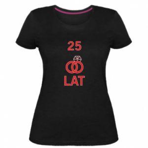 Women's premium t-shirt Wedding 25 years - PrintSalon