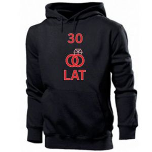 Men's hoodie Wedding 30 years - PrintSalon